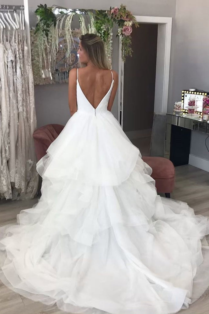 shirleydresses Shoestring StrapsA-line wedding dresses with Full Tulle Skirt