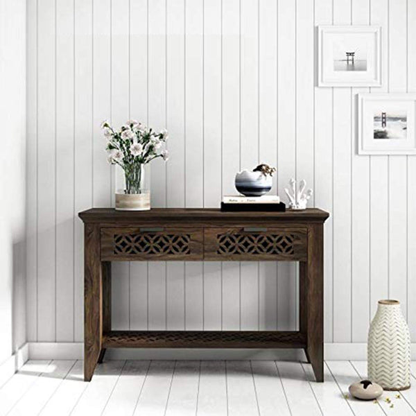 Sheesham Wood Console Table for Living Room