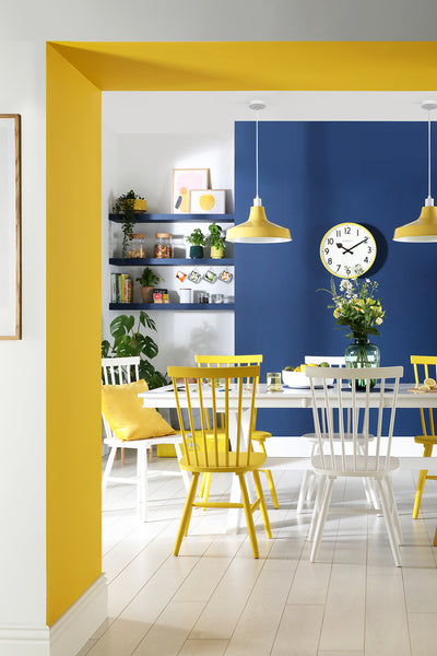 Yellow and Royal Blue Home