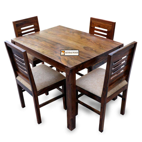 Kendal Wood Sheesham Dining Table with Chairs