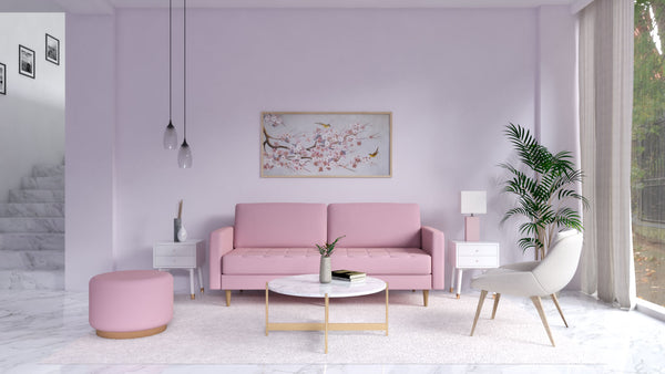 Millennial Pink and Lilac Home
