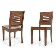 Load image into Gallery viewer, Strata Furniture Solid Sheesham Wood Dining/Balcony Chairs For Home And Office | Teak Finish | Set of 2 - Home Decor Lo