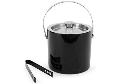 King International Stainless Steel Double Walled Insulated Black Ice Bucket W. - Home Decor Lo