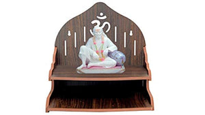 CRAFTSFY Wooden Wall Mount Temple for Home Shop Office | Art and Craft Wooden Temple | Home Temple | Puja Mandir |Wall Hanging and Table Top Home Mandir Temple |Beautiful Wooden Temple|