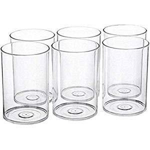 MR Products Multi Purpose Unbreakable Drinking Glass Set of 6 Pcs, ABS Poly Carbonate Plastic,300 ml Capacity Each, Clear Glass (Unbreakable) - Home Decor Lo
