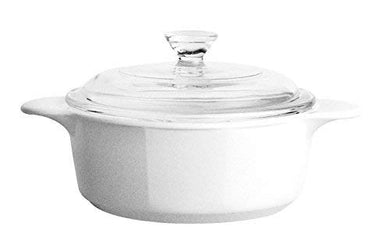 CorningWare Ceramic Casserole, 0.8 L, White