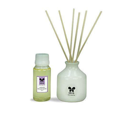 IRIS Reed Diffuser with Ceramic Pot, Lavender, Home Fragrances, Risk Free, Easy to use