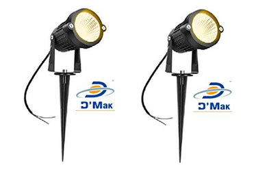 D'Mak™ LED Outdoor Garden Spot And Spike 3W IP65, Warm White 3000K, With 1 Year Warranty, Aluminium Body (3Watt) - Set of 2 | garden lights | | 3w garden light |