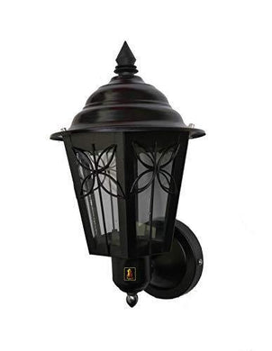Lyse Decor Metal Outdoor Exterior Wall Hanging Lamp for Home, Garden, Park (Black) - Home Decor Lo