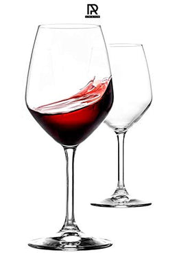 Ash & Roh® Red Wine, Cut Wine Glasses - Pack of 2,350 ml