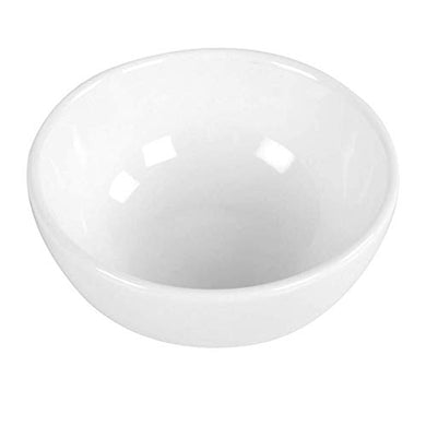 Mirakii White Porcelain Bowl Set 100ml, Microwave & Dishwasher Safe for Serving on Dinning, Kitchen Decoration, Curry, Pasta, Salad, Cereal, Soup, Sauce, Chutney, Pickle/Achar (2)