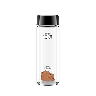 MINISO We Bare Bears Grizzly Plastic Bottle Leak Proof PP Lid Bottle for Kids Adults, 540ml