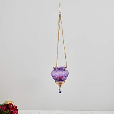 Home Centre Redolance Optical Hanging Lantern - Purple