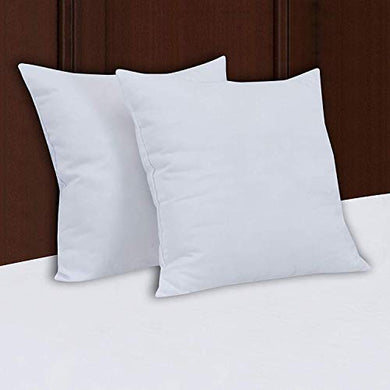 HOME ATTIRE™ Cotton Siliconised Microfiber Cushion Filler Set (White, 2, 24 x 24 Inch)