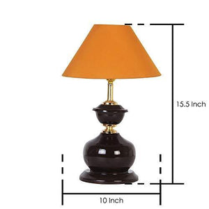 Quality Bit Conical Shade Table Lamp (Mustard)  - Home Decor Lo