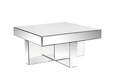 Venetian Design Mirrored Center Table | Coffee Table |Living Room Furniture - Home Decor Lo