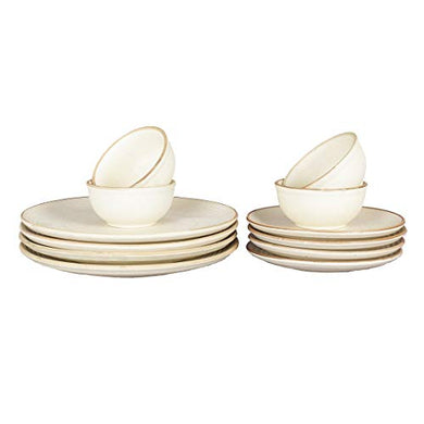 Miah Decor MD -100 Handcrafted Stoneware Dinner -Set of 12