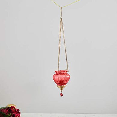 Home Centre Redolance Optical Hanging Lantern - Red