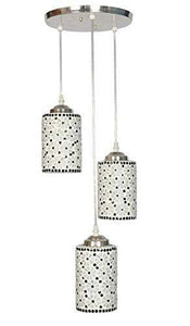 Royal Fancy Light Glass Pendent Celling Lamp (White) - Home Decor Lo