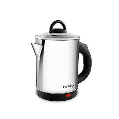 Pigeon by Stovekraft Quartz Kettle with Stainless Steel Body, 1.7 litres with 1500 Watt, boiler for Water, milk, tea, coffee, instant noodles, soup etc