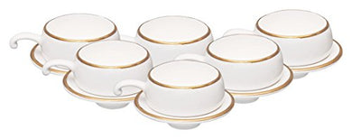 Clay Craft 310 Cup and Saucer Set, 12-Pieces, Multicolour