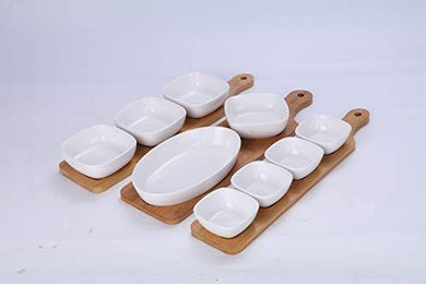 Ixora Dry Fruits Serving Set Dry Fruits Serving Tray Diwali Sweets Snacks Set of 12