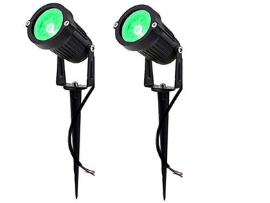 DMT DMAK Multi Traders Waterproof Spike LED Garden Light for Outdoor Purposes (Green, 3 Watt) -Pack of 2