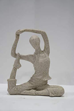 Yoga Lady Statue | Decorative Sculptures showpiece for Living Room Office Drawing Room Home Décoration. - Home Decor Lo