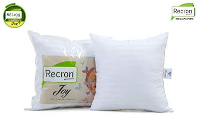 Recron Certified Joy Fibre Cushion - 41 cm x 41 cm, White