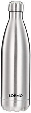 Amazon Brand - Solimo Stainless Steel Insulated Bottle, 24 Hours Hot or Cold, 1000 ml