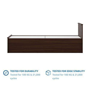 Amazon Brand - Solimo Polaris Engineered Wood Queen Bed with Box Storage (Walnut Finish) - Home Decor Lo