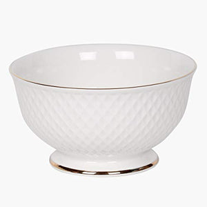 Home Centre Divine Ceramic Cereal Bowl - White