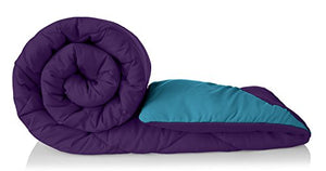 Amazon Brand - Solimo Microfibre Reversible Comforter, Double (Deep Purple and Ocean Blue, 200 GSM)