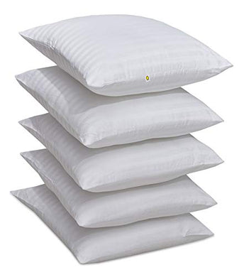 Yellow Weaves™ Microfiber Cushion Fillers 16 X 16 Inches, Set of 5 - White Color