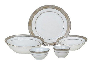 Aditya Promoters Limited 28 Pcs Fine Porcelain Dinner Set (1002Platinum)