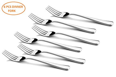 Shapes Zodi Stainless Steel 304 Grade, 18/10 & Cup Rolled 6 Pieces Dinner Fork