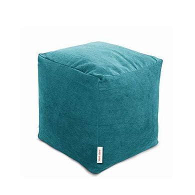 Aart Store Footrest/Pouffe Filled with Beans - Cyan Color - Home Decor Lo