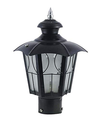 Lyse Decor Umbrla Metal Black Decorative Exterior/Outdoor Light/Gate Light/Garden Lamp/Pillar Lamp/Gardner Lights etc_Pack of 1
