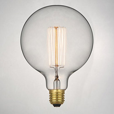 Sanleen Enterprises Vintage Style Round Warm White Incandescent Edison Bulb for Homelight Fixtures