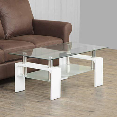 Home Centre Finn Two-Tiered Coffee Table - White - Home Decor Lo