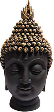 StoresHub® Palm Buddha Idol Statue Showpiece for Home Decoration (Black) (1)