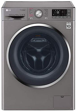 LG 10.5 kg Inverter Wi-Fi Fully-Automatic Front Loading Washing Machine (F4J8JSP2S, Stone Silver, Inbuilt Heater)