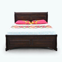 Load image into Gallery viewer, Royaloak Sydney Queen Size Solid Wood Bed (Rubber Wood - Cappuccino) - Home Decor Lo