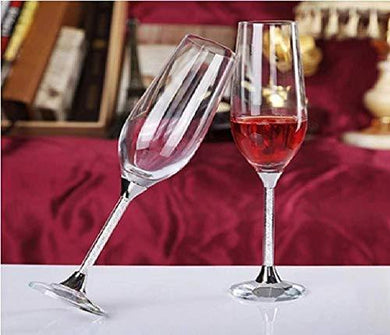 AARYA OPERIA Transparent Red Wine Glass (Set of 2, 165ML)