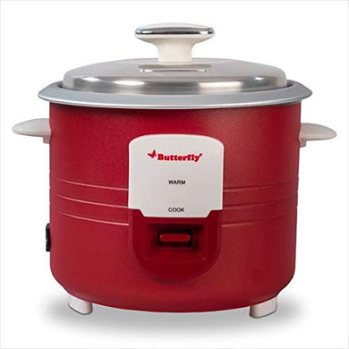Butterfly Wave Electric Rice Cooker (1.8 L) - Red