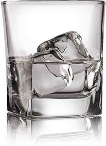 VILON Stylish and Elegant Old Fashioned Crystal Whiskey Glass Set (Whiskey Glasses, 300 ML) PS-37 (4) - Home Decor Lo