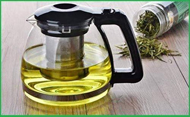 1500 ml [ 1.5 Liter ] Glass Teapot with Removable Infuser, Stovetop Safe Kettle, Blooming and Loose Leaf Tea Maker Set,Glass Bottle Pitcher for Hot/Iced Tea - Home Decor Lo