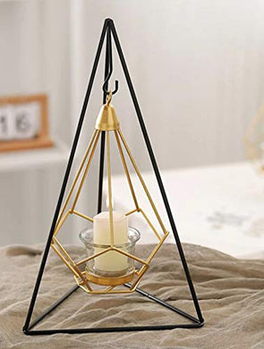 PIKIFY Steel Hanging Triangle Shaped Geometric Candle Holder