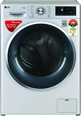 LG 7 Kg 5 Star Inverter Wi-Fi Fully-Automatic Front Loading Washing Machine (FHT1207ZWL, Luxury Silver, Steam)