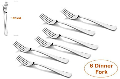 Shapes Artic Stainless Steel Dinner Fork, Set of 6 Pcs. (18 cm.)